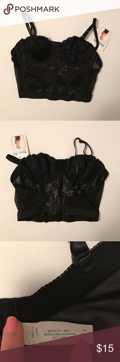 Black Bra Sexy lace bra. Looks adorable with a high waisted skirt! Never worn. Beauty Bra Intimates & Sleepwear Bras