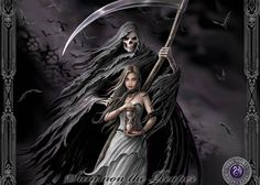 summon the reaper by anne stokes - Fantasy Art de Anne Stokes Foto Fantasy, Gothic Fantasy Art, Fantasy Kunst, Fantasy Artwork, Fantasy World, Gothic 1, Gothic Artwork, Gothic Images, Gothic Fairy