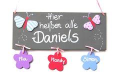 Türschild Schmetterling von Holzlotte via dawanda.com