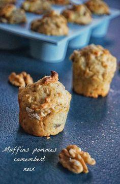 Je vous livre une recette de muffins pomme camembert noix, sucré salé mais pas trop, à tester pour votre prochain apéro !