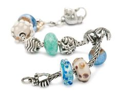 A beautiful beach inspired Trollbeads bracelet