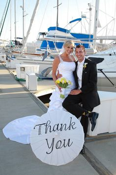 Custom Hand Painted Wedding Parasol Thank You Mr by Cycling4aCure, $27.50