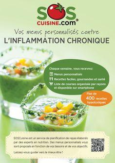 Menus personnalisés contre l'INFLAMMATION CHRONIQUE (Recettes HYPOTOXIQUES) - Tailored Meal Plans against CHRONIC INFLAMMATION (HYPOTOXIC Recipes)