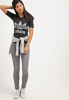 adidas Originals - INKED FITTED  - T-Shirt print - black