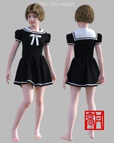 GaoDan Uniforms 12 for Genesis 3 Female(s)
