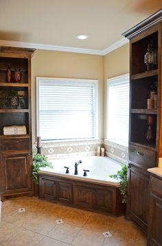 Corner Bath tub, dude......this is way cool.....