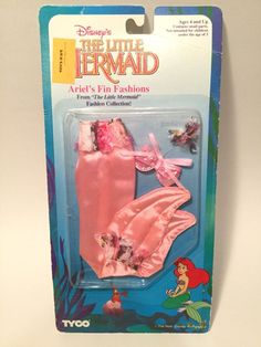 Vintage Disney's The Little Mermaid Ariel's Fin Fashions by Tyco Pink SEALED #Tyco