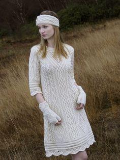 Aran Dress by Natallia Kulikouskaya for WEST END KNITWEAR, Ireland