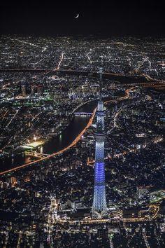 Tokyo with Tokyo SkyTree, Japan | Takahiro Toh 東京スカイツリー空撮夜景