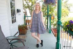 How to style a cotton dress. Printed flared dress from H&M.