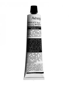 Deep cleansing - Aesop Parsley Seed Facial Cleansing Masque (use before hydrating mask)