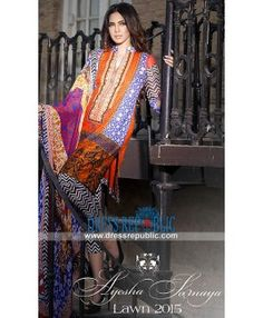 Buy Ayesha Somaya Lawn Dresses 2015 - Online Shopping