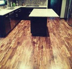 Flooring, Remarkable Neoteric Kitchen With Terrific Asian Walnut Flooring With Modern Kitchen Island With White Marble Countertop Also Black. Acacia Wood Flooring, Solid Wood Flooring, Cork Flooring, Best Flooring, Rubber Flooring, Flooring Options, Concrete Floors, Hardwood Floors, Modern Sink
