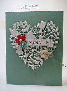 Stampin' Up! Bloomin' Heart, Occasions 2016, Card-iology by Jari
