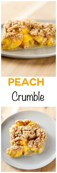 Peach Crumble: Sweet and juicy peaches with a mile high crump topping. You only need one bowl and 7 common ingredients,for this easy dessert recipe.
