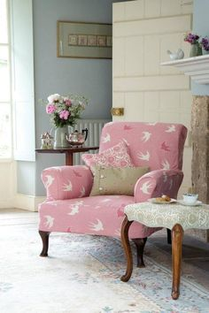 .Love this Cottage chair with the Swallows