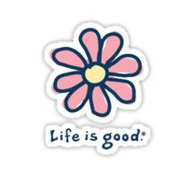 Life is good daisy by MandyGill Preppy Stickers, Cool Stickers, Bumper Stickers, Cute Laptop Stickers, Overlays, Parks, Vsco, Wallpaper Stickers, Macbook Stickers