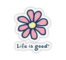 Life is Good Daisy Sticker