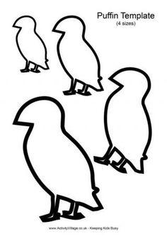 The Atlantic Puffin Bird Artic Animals, Puffins Bird, Bird Template, Winter Activities For Kids, Bird Quilt, Textiles, Bird Crafts, Felt Birds, Embroidery Transfers