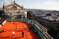 play a game of tennis on the rooftops of Paris  http://www.centroreservas.com/ #tenis #sport #deporte