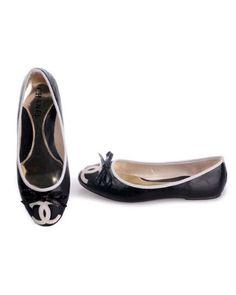www.chanelflatshoes/pinterest | Chanel Flat Shoes Leather Black 2901