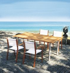 """The Fischer Moebel """"Tennis"""" outdoor furniture collection features classic style and exceptional materials! The collection's pieces fit easily into outdoor areas and garden landscapes. The collection is timeless, always fascinating, and reliable in both form and function."""