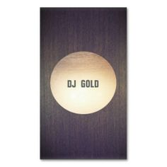 DJ Faux Gold Leaf Circle Wood Business Card. This great business card design is available for customization. All text style, colors, sizes can be modified to fit your needs. Just click the image to learn more!