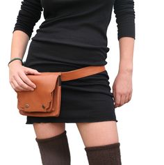 ladies leather hip purse | or on leather ditty ribbon provide a small bag purse belt purse ...