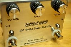 Hot rodded JCM800 style distortion pedal. Back this Kickstarter project and get one these beauties.  http://www.kickstarter.com/projects/1544038838/hot-mod-800-hot-rodded-valve-distortion-effect-ped?ref=home_location
