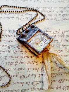 Book Soldered Necklace