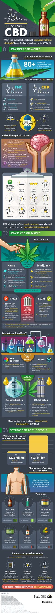 CBD Oil -The Science [Infographic] | HempWorx Official