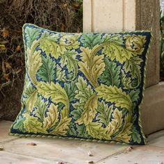 Acanthus Leaves Green on Dark Grey - Ehrman Tapestry -- love the pattern, hate the price!