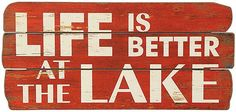 """Lake Life Wall Art 11.25""""H x 24""""Wx 1""""D was $29.00 sale $23.00"""