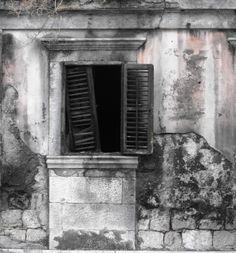 Dubrovnik, Croatia Old Window Abbandoned Building