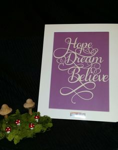 Items similar to Hope Dream Believe - DIY Paper cutting Template for Personal Use on Etsy Paper Cutting Templates, Diy Paper, Believe, Etsy, Ideas, Thoughts, Faith