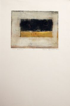 Silent Memories I / Natasha Karpinskaia / monotype print / Art Size: 10 x 8; Paper Size: 14 x 22 / SOLD