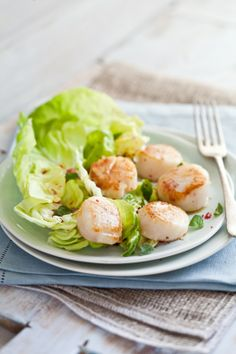 Seared Scallops Salad With Blood Orange Vinaigrette