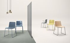 Fredericia — Pato Sledge chair and Pato 4-legs chair by Welling/Ludvik