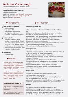 Tarte aux Prunes (Vegan)/Plum's Pie (Vegan) Plum Pie, Vegan Challenge, How To Plan, Words, Blog, Red Plum, Horse