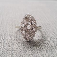Hey, I found this really awesome Etsy listing at https://www.etsy.com/listing/228556078/antique-engagement-ring-low-profile