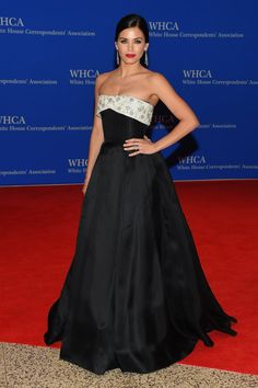 Pin for Later: Hollywood Goes to Washington: See Every Look From the White House Correspondents' Dinner Jenna Dewan-Tatum Jenna Dewan-Tatum opted for a classic ball gown by Reem Acra.