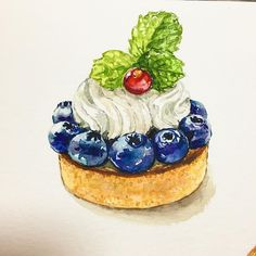 ideas fruit drawing watercolor food illustrations for 2019 Fruits Drawing, Food Drawing, Desserts Drawing, Dessert Illustration, Food Sketch, Watercolor Food, Food Painting, Food Illustrations, Cute Food