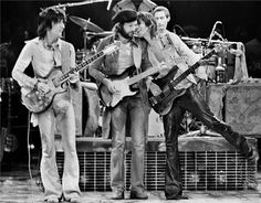 Eric Clapton With the stones 1975