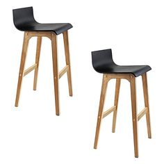 Ensure comfortable seating in every room of the house with the adaptable design and contemporary looks of the Thabo Bar Stool, Black (Set of 2) from Resort Living.