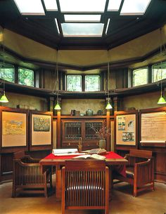 Frank Lloyd home office - Oak Park, IL