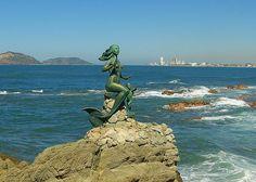 MEXICO Mermaid Statue, Mazatlan Mexico
