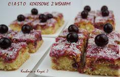 Kuchnia u Krysi : Ciasto kokosowe z wiśniami... Obłędnie pyszne