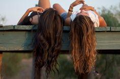 a blond and a brunette friends | best-friends-blonde-brunette-dock-friends-Favim.com-241073.jpg