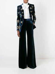 Emilio Pucci Zodiac Embellished Velvet Blazer