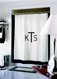 Elegant A DIY Er Project To Make A Monogram Shower Curtain (http://
